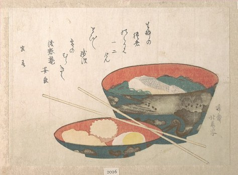 Bowl of New Year Food - Teisai Hokuba, The Met