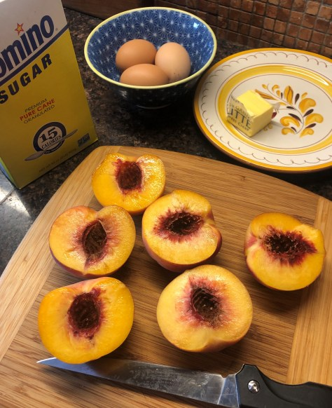Peach Upside-Down Cornmeal Cake