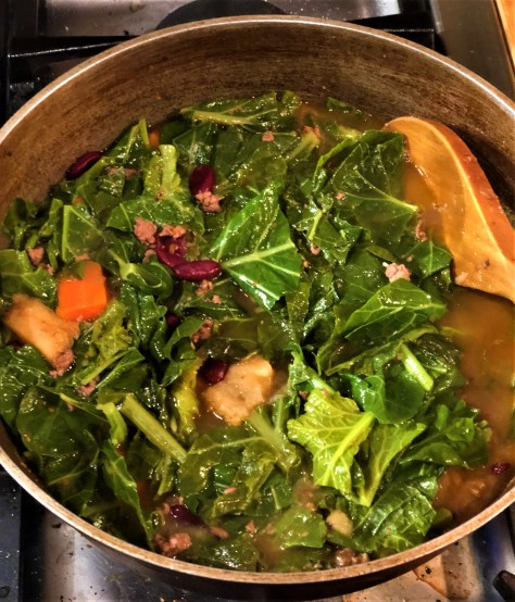 Buffalo,  Beans, and Greens, Soup