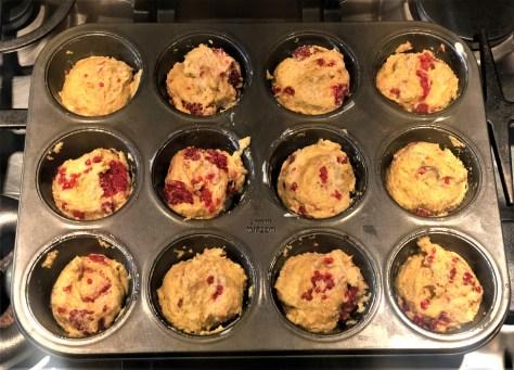Raspberry Corn Muffins