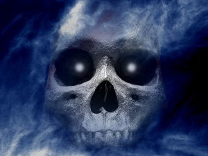 Free-Skull-Shower-Halloween-Wallpaper
