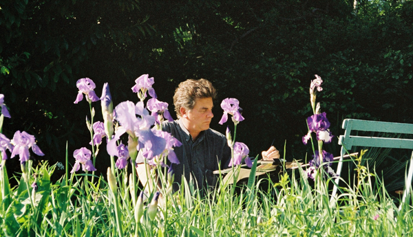 """""""Robert Painting at Hôtel Baudy, Giverny, France"""", May 2003, photograph by VickyPagán-Leedy"""