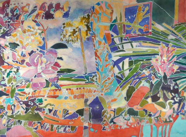 """Flora & Fauna I"", by Robert Leedy, 2009, watercolor on paper"