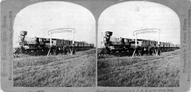 John Carbutt's Stereograph of Visitors to the Hundredth Meridian.