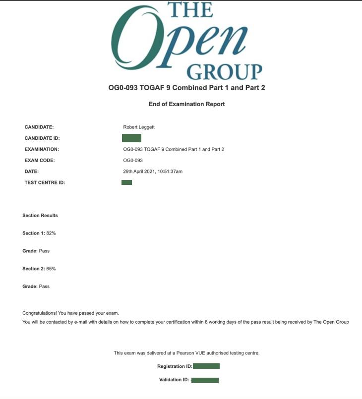 Togaf 9.2 Results