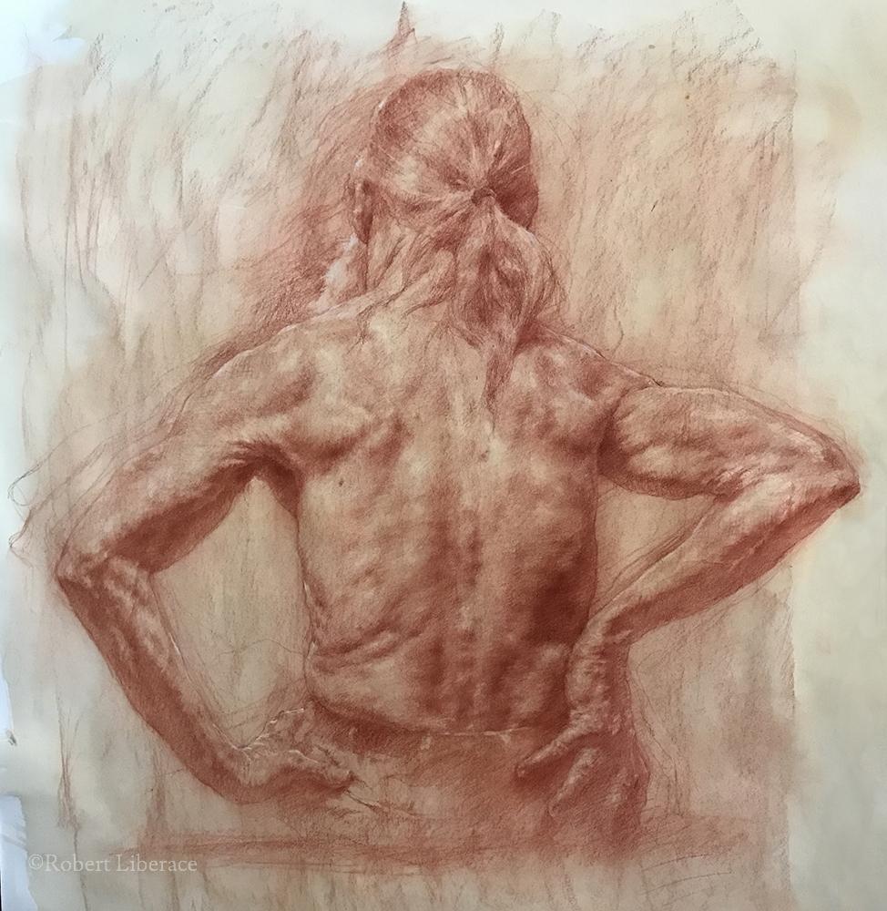 Robert Liberace, Joseph, red-chalk-on-paper