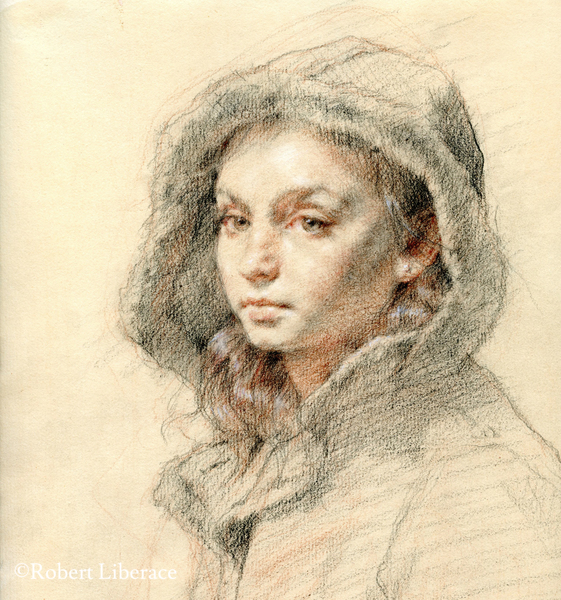 Robert Liberace, Ava, three-color-chalk