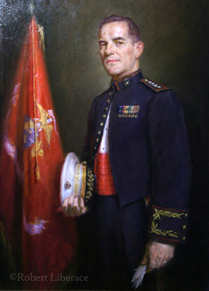 Robert Liberace, Col. Green, oil-on-canvas