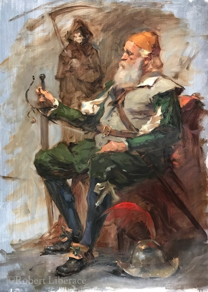 Robert Liberace, class-oil-demo, Spirit of NC Wyeth