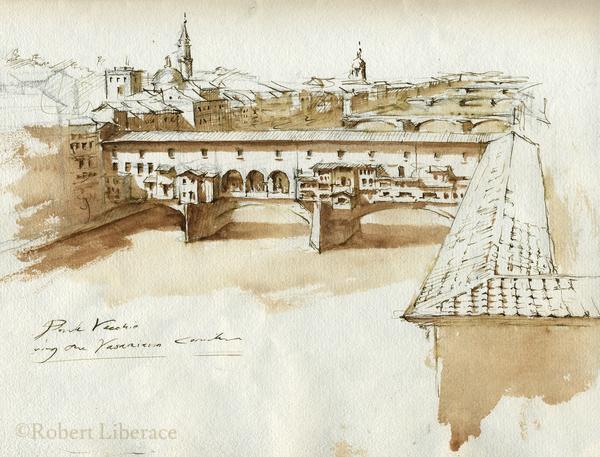 Robert-Liberace-ink-Ponte-Vecchio