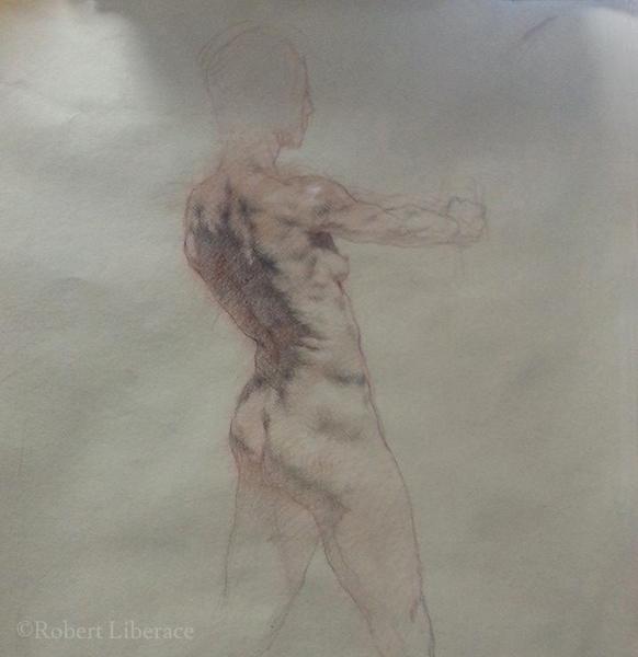 Robert Liberace, three-color-chalk-demo-2014