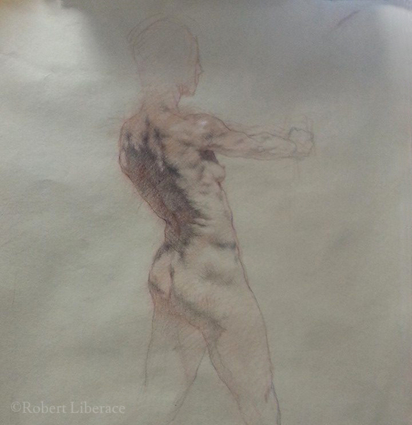 Robert Liberace, three-color-chalk-demo-2014