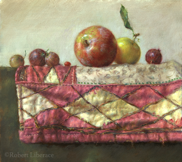Robert-Liberace, Still-Life-with-Plum, oil-on-board