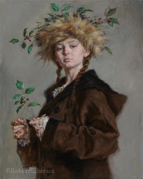 Robert Liberace, Winter, oil on canvas