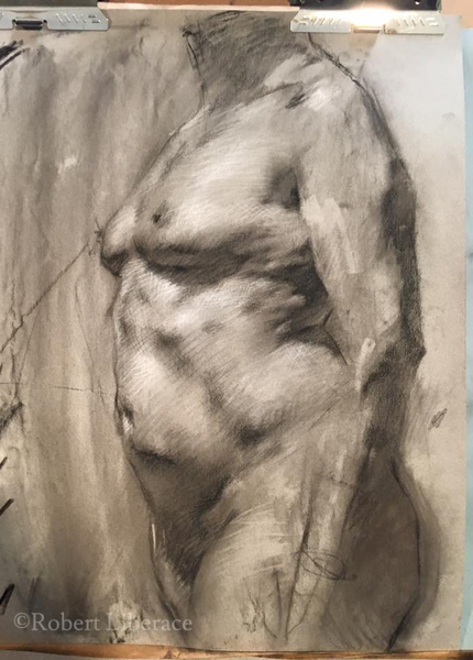 Robert Liberace, demo of nude, chalk
