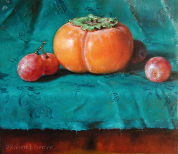 Robert-Liberace, persimmon-and-grapes