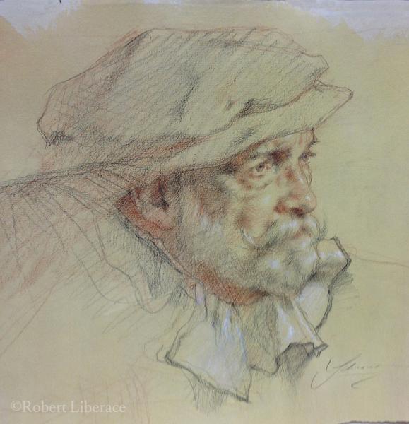 Robert Liberace, three-color-chalk-demo