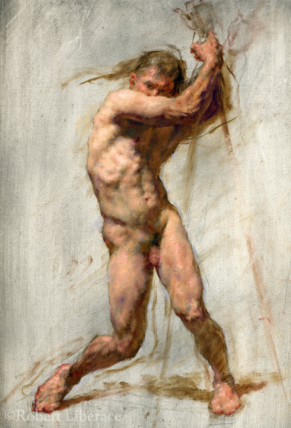 Robert Liberace Oil figure