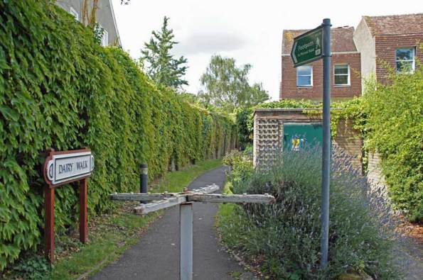 Turnstile at the Dairy Walk footpath a short walk from the All England Lawn Tennis Club grounds.