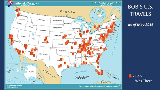 Bob Travel Map US 0516