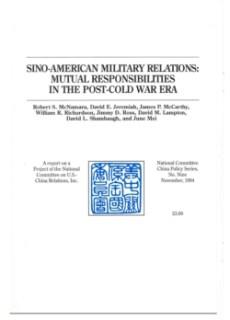 McNamara et al (1994) Sino-American Military Relations
