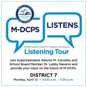 MDCPS Listening Tour with District 7 @ Zoom