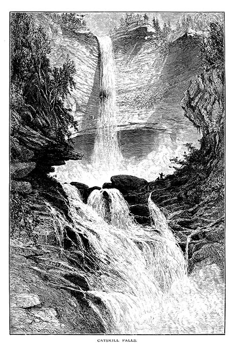 73dpi Kaaterskill Falls 1874 wood engraving