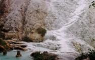 TUSCANY LANDSCAPE - MOUNT AMIATA, THE WARM WATERS IN BAGNI S. FILIPPO