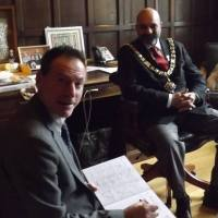 "NOTTINGHAM CELEBRATES ""THE GHOST BUS"": GREAT DAY AT THE CITY COUNCIL HOUSE WITH THE LORD MAYOR"