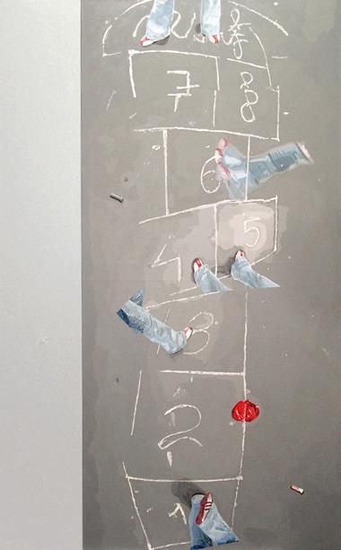 """Pop Metafísico pintura i-am-a-teur obra """"Je-U"""""""