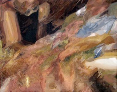 """Pop Metafísico pintura Mani-fe's-to... obra """"brindis"""""""