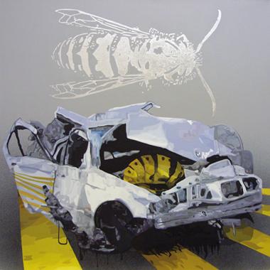 "Pop Metafísico pintura Crash_es obra ""cr-ash II"""