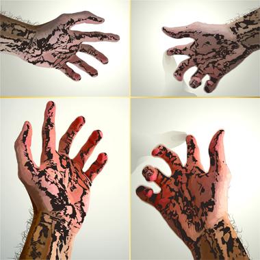 """Pop Metafísico pintura Mani-fe's-to... obra """"to+"""""""