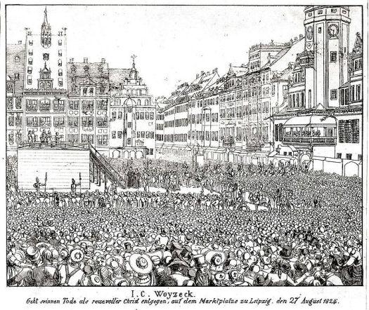 piazza principale di Lipsia - incisione