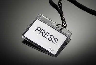 press badge per ufficio stampa