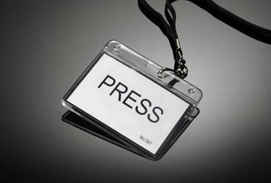 press badge per ufficio stampa