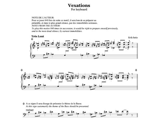 Vexations Satie