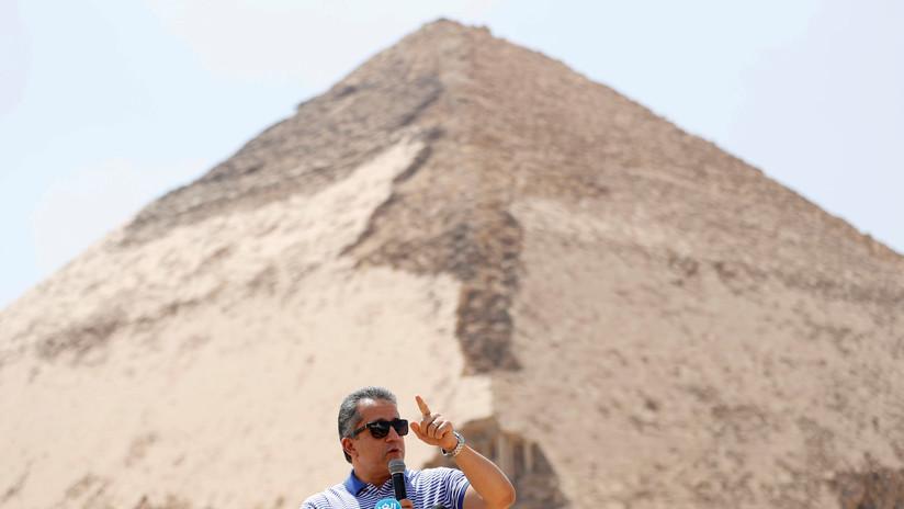 Egipto: Abren al público la famosa pirámide 'acodada' del faraón Seneferu