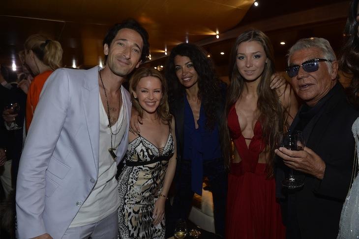 Adrien Brody Kylie Minogue Afef Jnifen Lara Lieto Roberto Cavalli