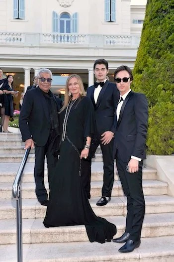 Roberto, Eva, Daniele and Robert Cavalli @amfAR Gala 2013 in Cannes