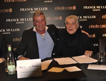Roberto Cavalli with Franck Muller