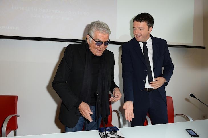 Roberto Cavalli and Matteo Renzi