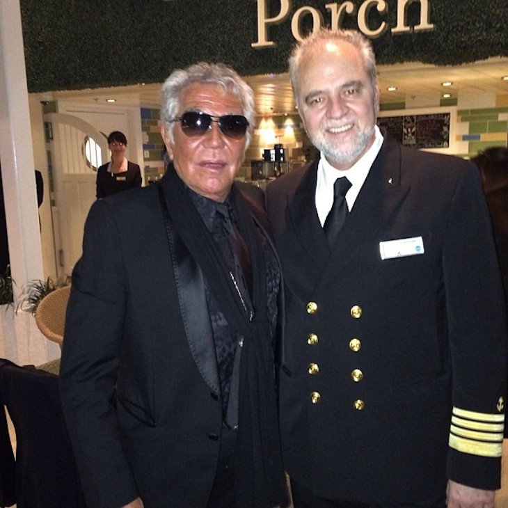 Roberto Cavalli with Captain Athanasios G. Peppas