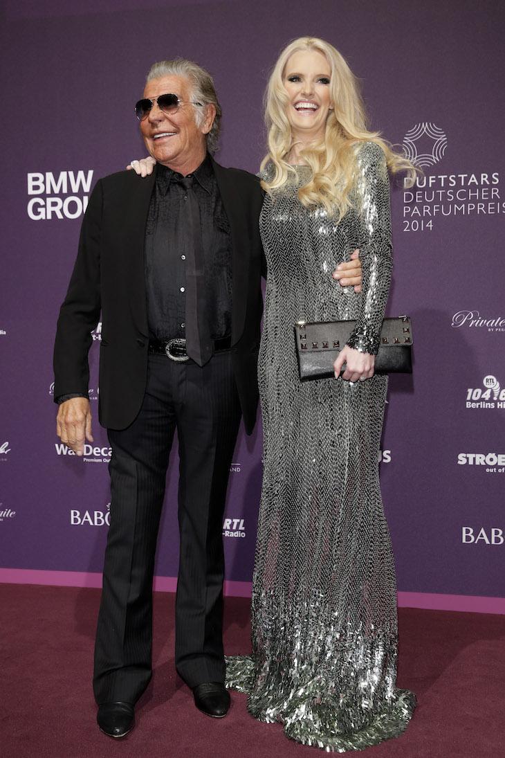 Roberto Cavalli with Mirja du Mont