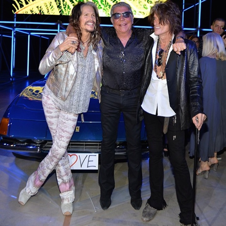Roberto Cavalli with Steven Tyler and Joe Perry