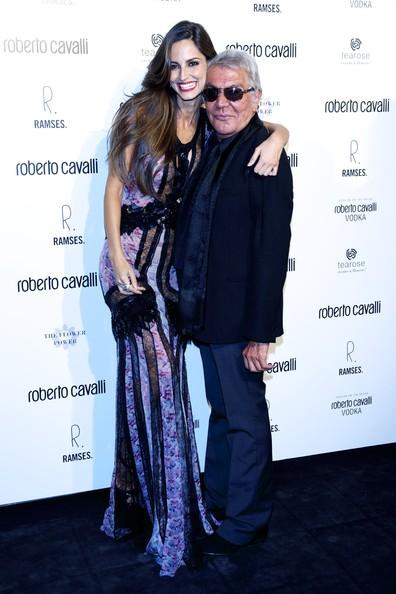Roberto Cavalli with Ariadne Artiles