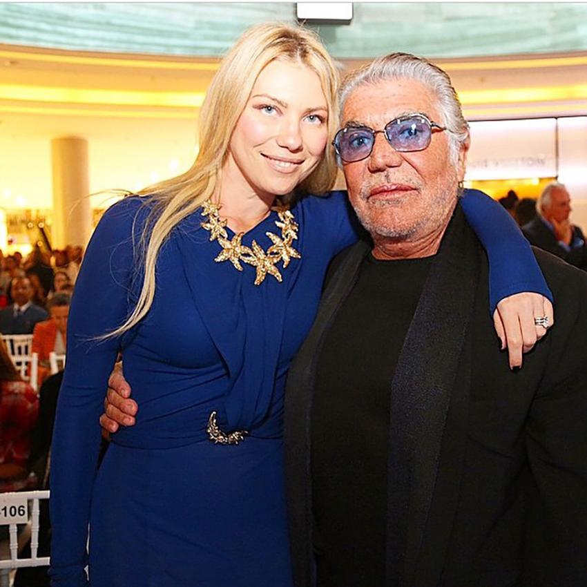 Roberto Cavalli with Zhanna Bianca