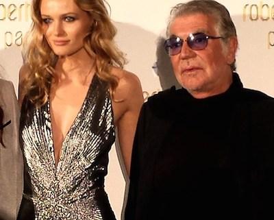 Roberto Cavalli with Edita Vilkeviciute