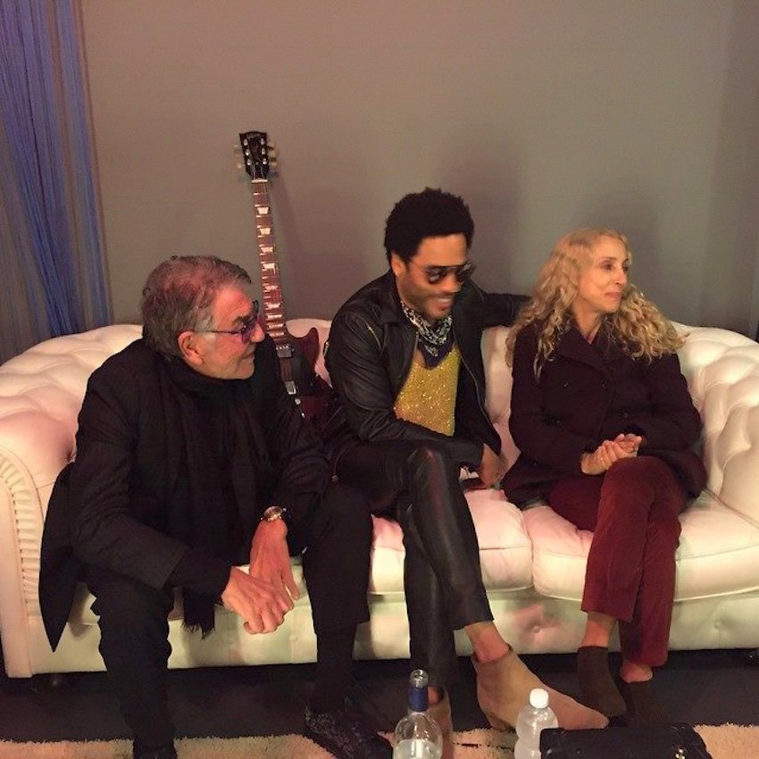 Roberto Cavalli with Lenny Kravitz and Franca Sozzani