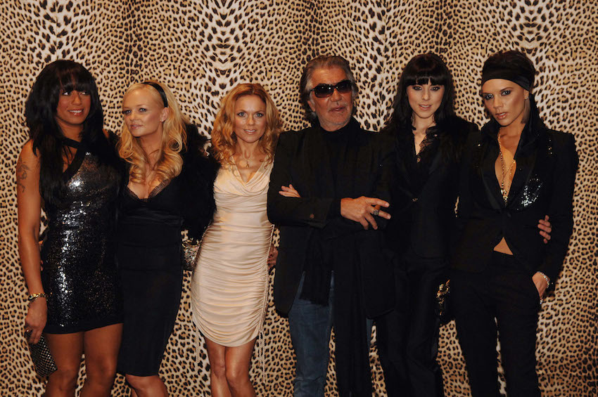 Roberto Cavalli with The Spice Girls